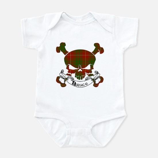Bruce Tartan Skull Infant Bodysuit