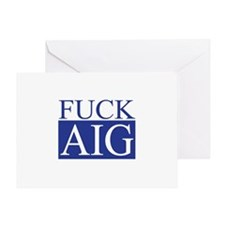 Fuck AIG Greeting Card