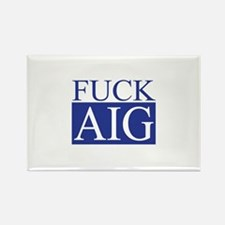 Fuck AIG Rectangle Magnet