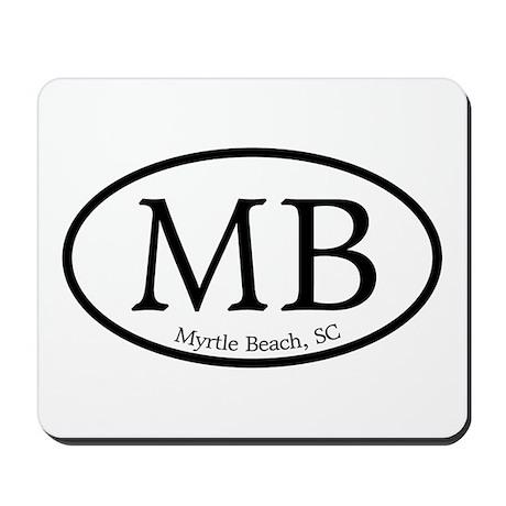 MB Myrtle Beach Oval Mousepad