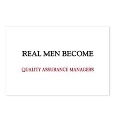 Real Men Become Quality Assurance Managers Postcar