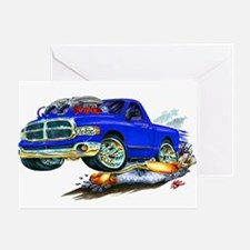 Dodge SRT-10 Blue Truck Greeting Card