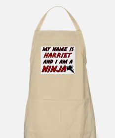 my name is harriet and i am a ninja BBQ Apron