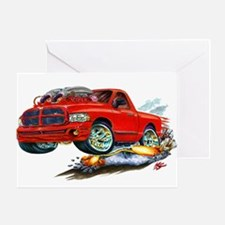 Dodge SRT-10 Red Truck Greeting Card