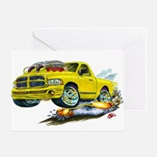 Dodge SRT-10 Yellow Truck Greeting Card