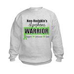 Non Hodgkin's Warrior Kids Sweatshirt