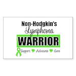 Non Hodgkin's Warrior Rectangle Sticker 10 pk)