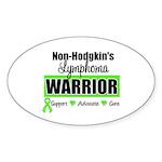 Non Hodgkin's Warrior Oval Sticker (10 pk)