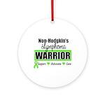 Non Hodgkin's Warrior Ornament (Round)