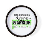 Non Hodgkin's Warrior Wall Clock