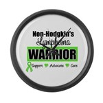 Non Hodgkin's Warrior Large Wall Clock