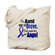 Angel 1 AUNT Colon Cancer Tote Bag