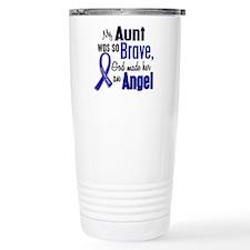 Angel 1 AUNT Colon Cancer Travel Mug