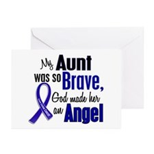 Angel 1 AUNT Colon Cancer Greeting Cards (Pk of 20