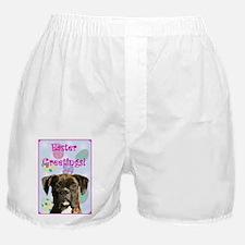 Easter Greetings Brindle Boxer Shorts