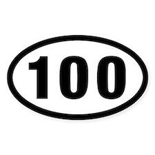 100 Mile Ultrarunning Decal
