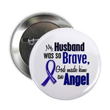 "Angel 1 HUSBAND Colon Cancer 2.25"" Button"