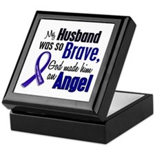 Angel 1 HUSBAND Colon Cancer Keepsake Box