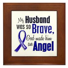 Angel 1 HUSBAND Colon Cancer Framed Tile