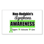 Non-Hodgkin's Awareness Rectangle Sticker 10 pk)