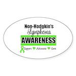 Non-Hodgkin's Awareness Oval Sticker (50 pk)