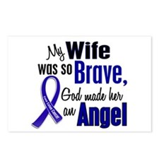 Angel 1 WIFE Colon Cancer Postcards (Package of 8)