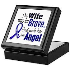 Angel 1 WIFE Colon Cancer Keepsake Box