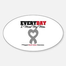 Brain Cancer Mom Oval Decal