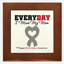 Brain Cancer Mom Framed Tile