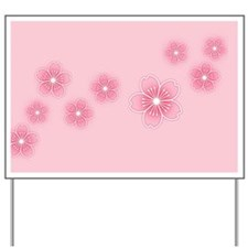 Pink Cherry Blossoms Yard Sign