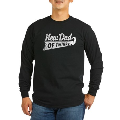 New Dad of Twins Long Sleeve Dark T-Shirt