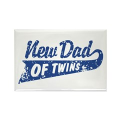 New Dad of Twins Rectangle Magnet