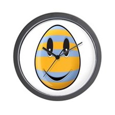 Smiley Easter Egg Wall Clock