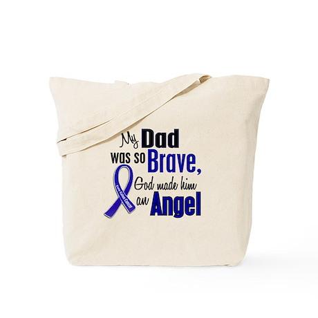 Angel 1 DAD Colon Cancer Tote Bag
