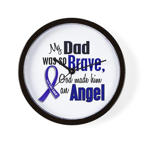Angel 1 DAD Colon Cancer Wall Clock