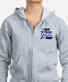 Angel 1 DAD Colon Cancer Zip Hoodie