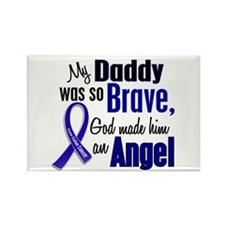 Angel 1 DADDY Colon Cancer Rectangle Magnet