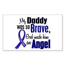 Angel 1 DADDY Colon Cancer Rectangle Decal