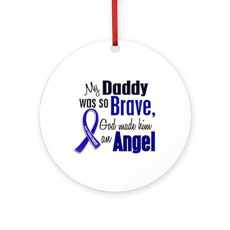 Angel 1 DADDY Colon Cancer Ornament (Round)