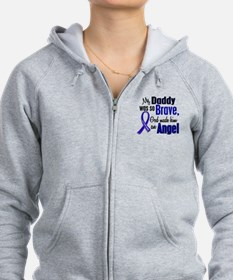 Angel 1 DADDY Colon Cancer Zip Hoodie