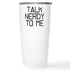 Talk Nerdy Ceramic Travel Mug