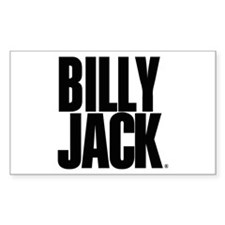 BILLY JACK Text Logo Rectangle Decal
