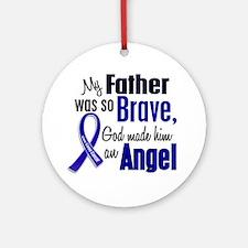 Angel 1 FATHER Colon Cancer Ornament (Round)