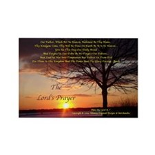 Lord's Prayer - Pink Sunset Rectangle Magnet