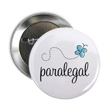 "Butterfly Paralegal 2.25"" Button"