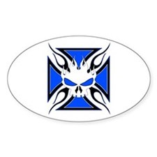 Skull & Cross Oval Decal