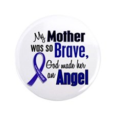 """Angel 1 MOTHER Colon Cancer 3.5"""" Button"""
