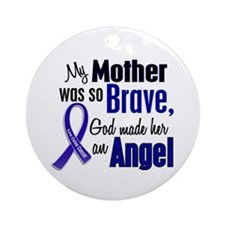 Angel 1 MOTHER Colon Cancer Ornament (Round)