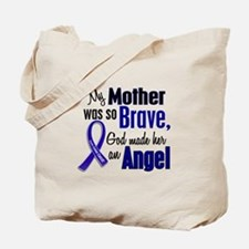 Angel 1 MOTHER Colon Cancer Tote Bag