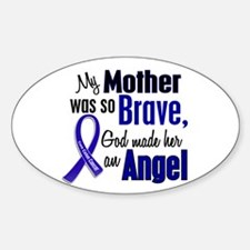 Angel 1 MOTHER Colon Cancer Oval Sticker (10 pk)